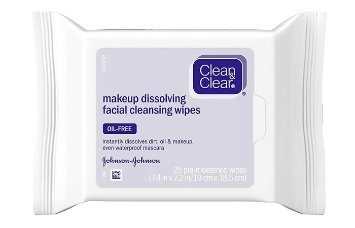 Clean Clear Oil-Free Makeup Dissolving Facial Cleansing Wipes