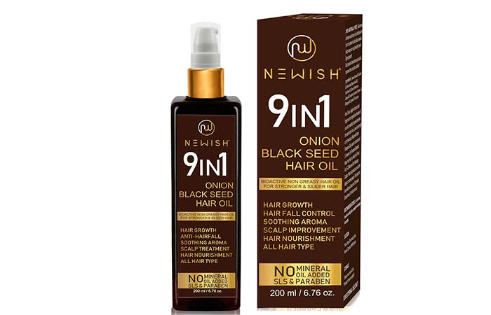 Newish® Onion Black Seed Hair Oil for Hair Growth for Men and Women