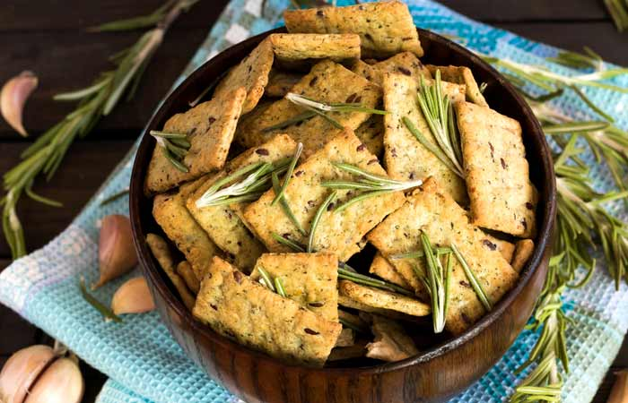 Savory Herb Whole Grain Crackers