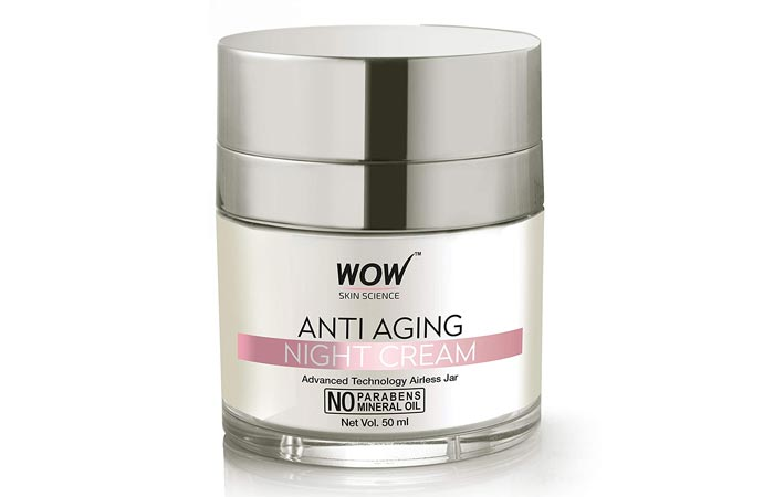 WOW Anti Aging No Parabens Mineral Oil Night Cream