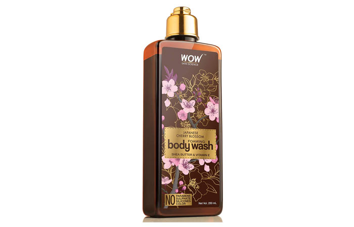 Wao Skin Science Japanese Cherry Blossom Foaming Body Wash