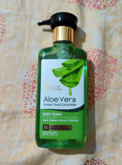 Oriental Botanics Aloe Vera Green Tea & Cucumber Body Wash-Skin feels refreshed after using it-By theappetizingfactor