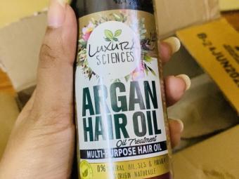 Luxura Sciences Argan Hair Oil 200 ml -Totally satisfied-By piyachandra3