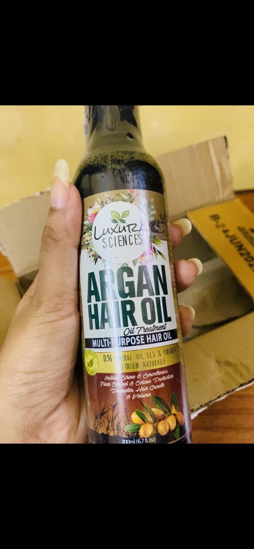 Luxura Sciences Argan Hair Oil 200 ml-Totally satisfied-By piyachandra3