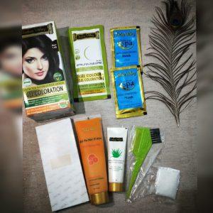 Indus Valley Organically Natural Gel Hair Color Dark Brown -Best Ammonia Free Hair Color-By mecurlygirl