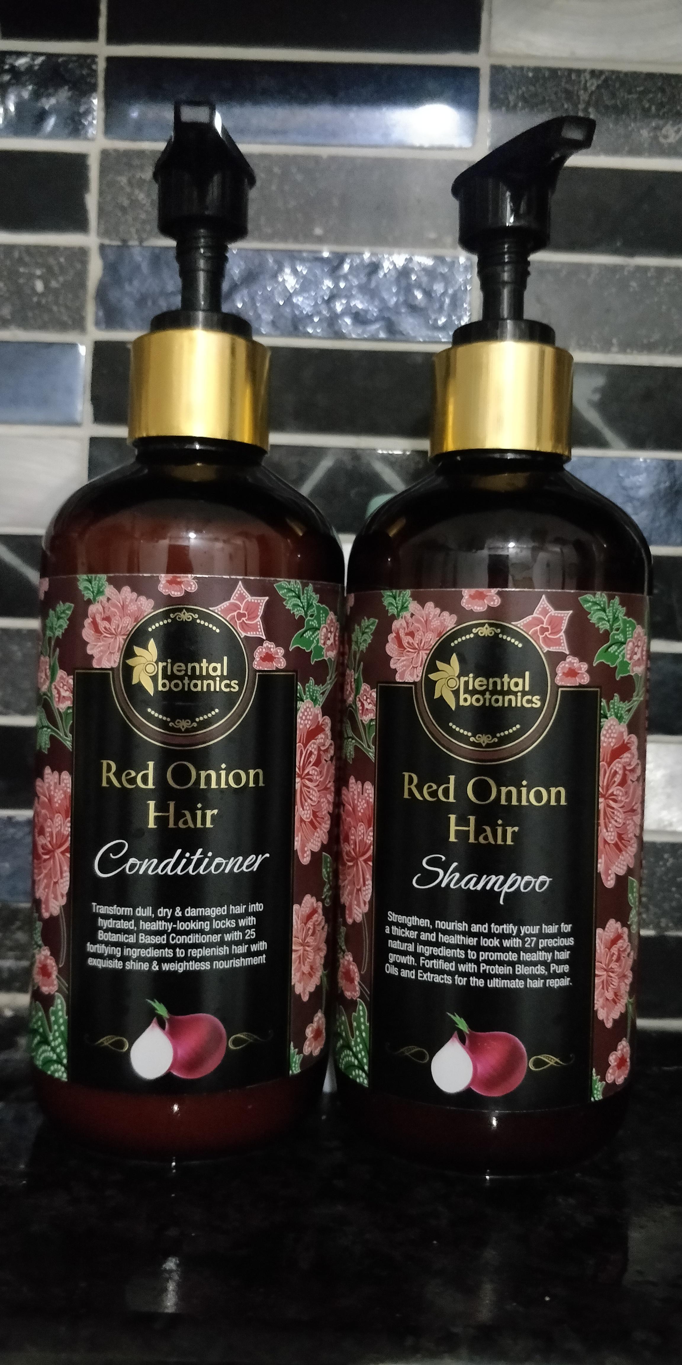 Oriental Botanics Red Onion Hair Shampoo + Conditioner Kit-Dandruff Hairfall Expert-By shriya_saxena