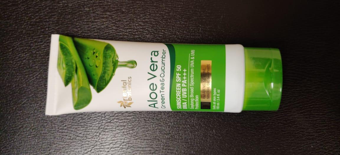 Oriental Botanics Aloe Vera Green Tea & Cucumber Sunscreen SPF 50-A Good Product-By riya_agrawal-2