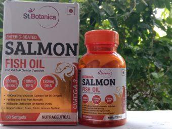 St.Botanica Salmon Fish Oil 1000mg; 300mg Omega-3 with 180mg EPA, 120mg DHA – 60 Enteric Coated Softgels -I liked it-By muskii.7