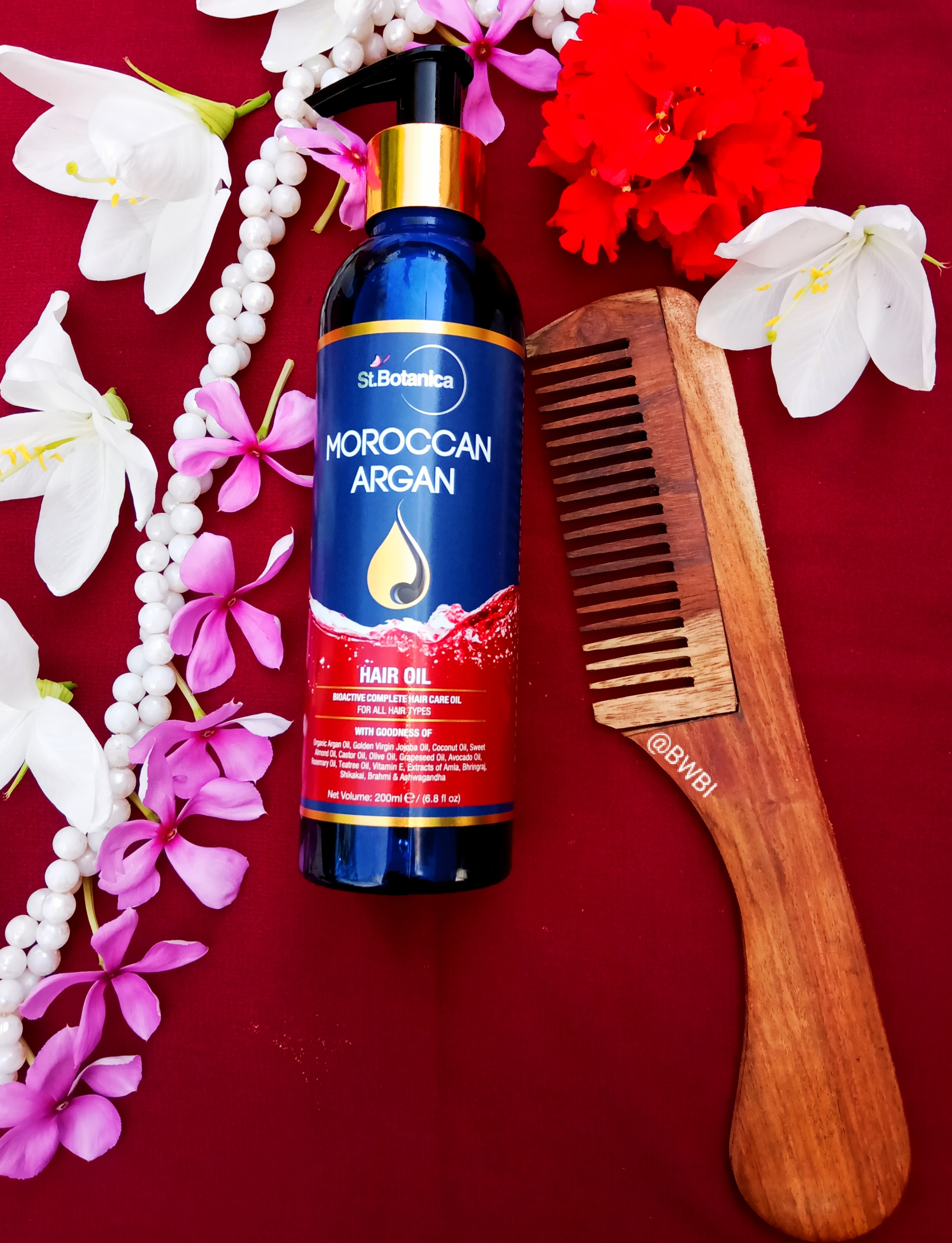 St.Botanica Moroccan Argan Hair Growth Oil-Best hair oil for hair growth-By indranireviews