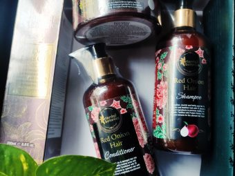 Oriental Botanics Red Onion Hair Shampoo Conditioner Oil Mask -Value for money for sure-By sunita_k