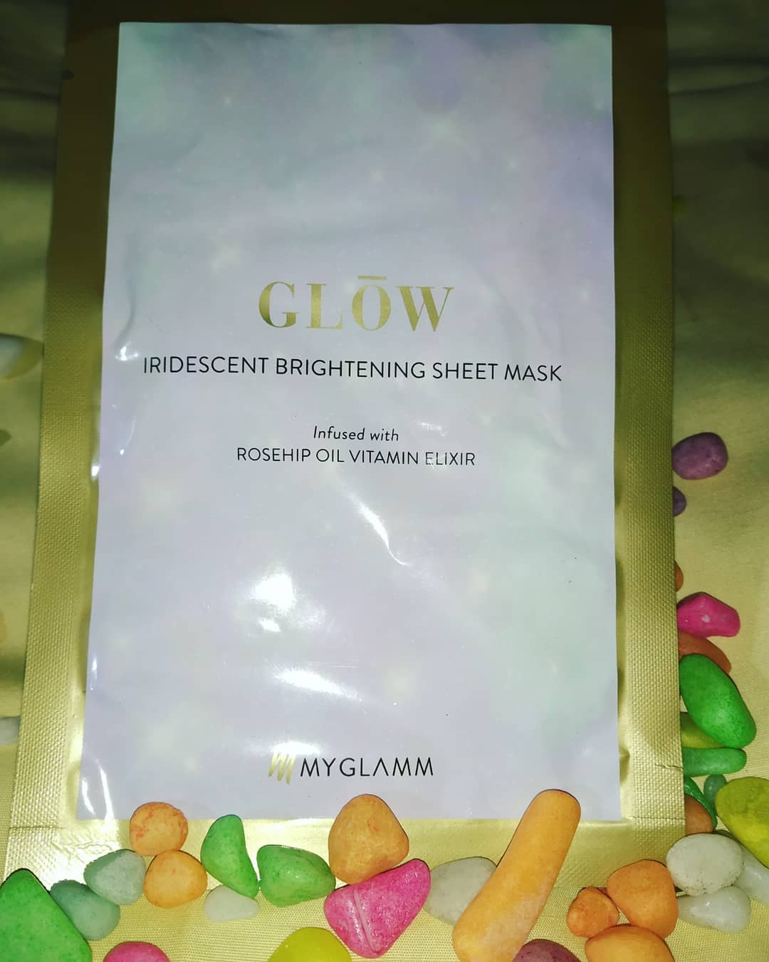 MyGlamm K.Play Mandarin Brightening Sheet Mask-Glowing-By pratima36