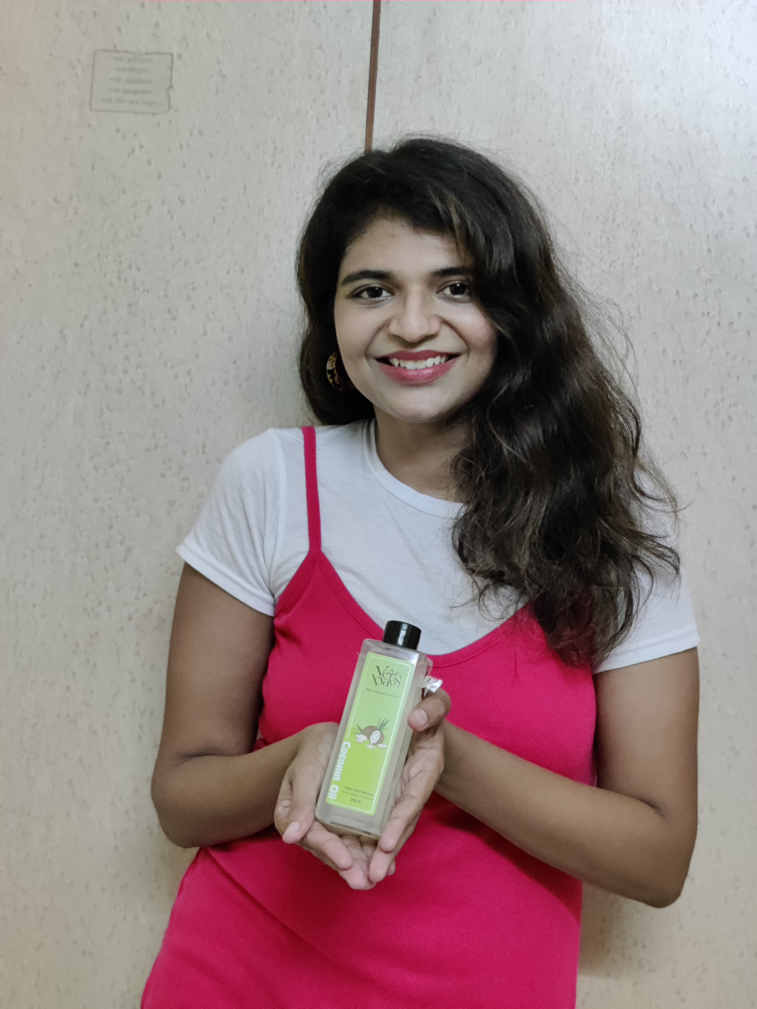 Vegebaby Natural Cold Pressed Extra Virgin Coconut Oil-Treat for your skin,hair and digestion-By khushibhatt