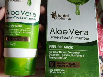 Oriental Botanics Aloe Vera, Green Tea & Cucumber Peel Off Mask -Good Natural Peel off Mask-By imankitabiswas