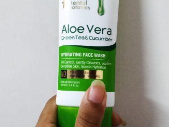 Oriental Botanics Aloe Vera, Green Tea & Cucumber Hydrating Face Wash -Bye bye chip chip-By mansi_jain