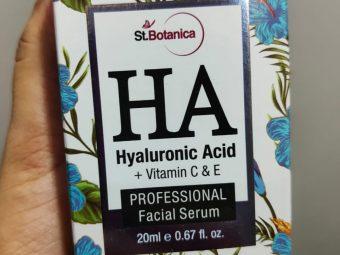 St.Botanica Hyaluronic Acid Facial Serum + Vitamin C, E -Makes skin more glowy-By suhanigaba