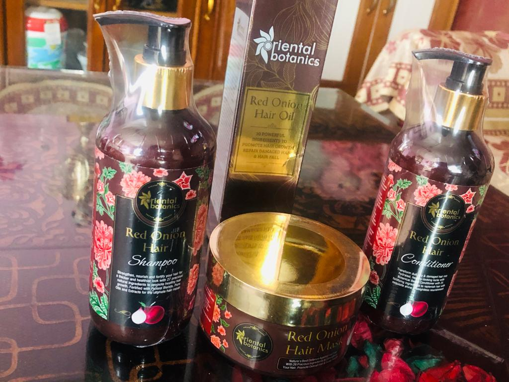 Oriental Botanics Red Onion Hair Shampoo Conditioner Oil Mask-Softens my hair and helpful in solving the problem of Dandruff-By tanya_mehta-2