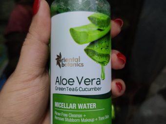 Oriental Botanics Aloe Vera, Green Tea & Cucumber Micellar Water pic 2-It is veey gentle on skin, nice fragrance-By kitchenjungle3