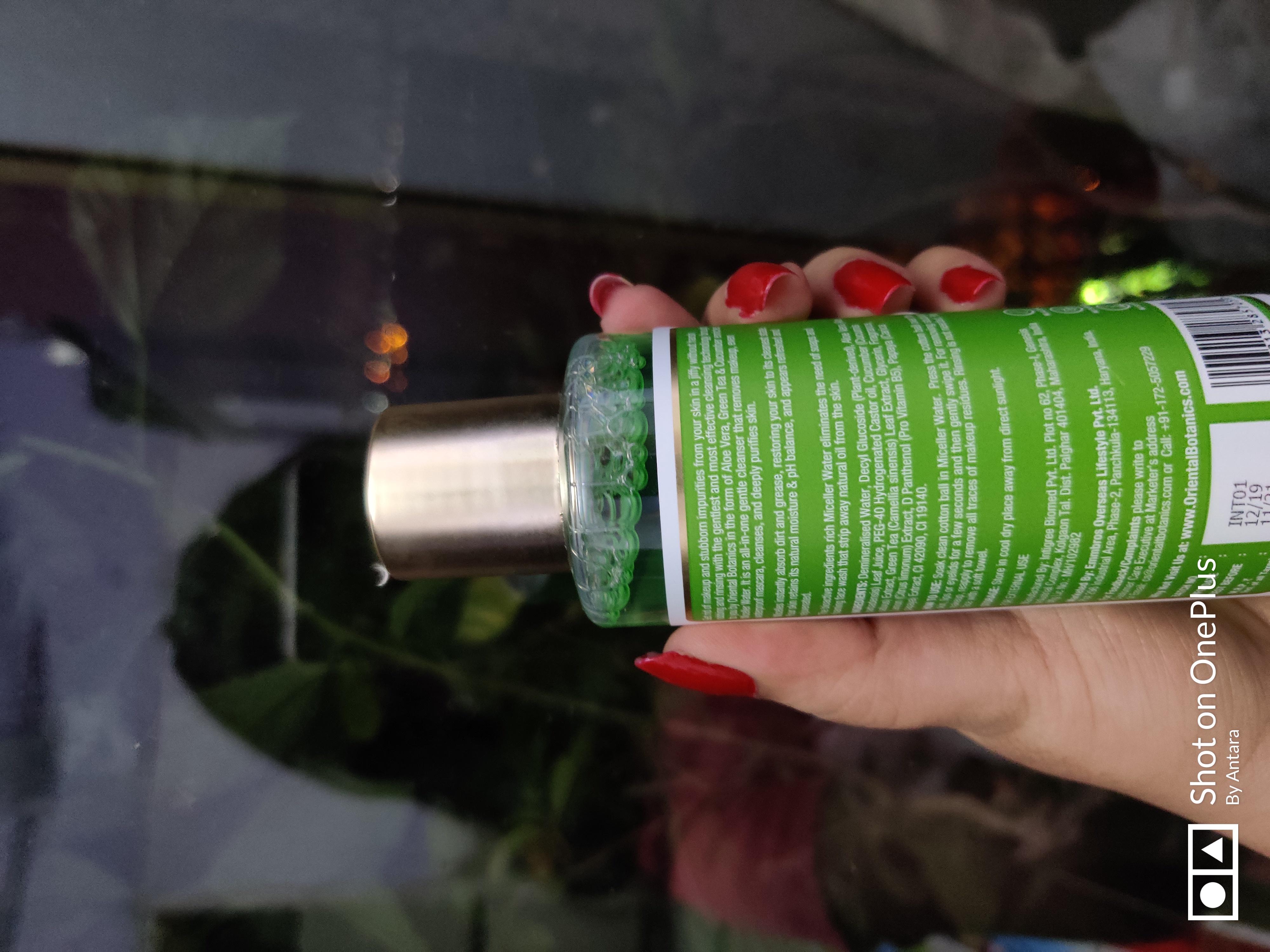 Oriental Botanics Aloe Vera, Green Tea & Cucumber Micellar Water-It is veey gentle on skin, nice fragrance-By kitchenjungle3-1