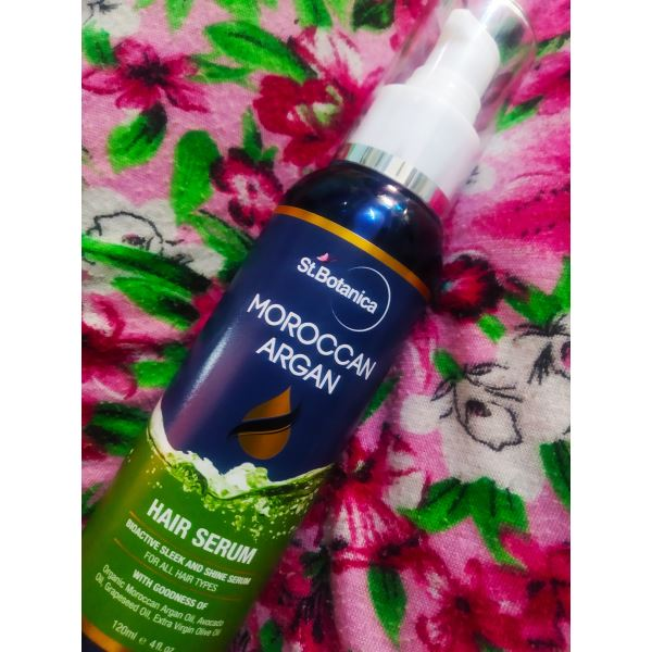 St.Botanica Moroccan Argan Hair Serum -In love with the results-By mansi_shioharey