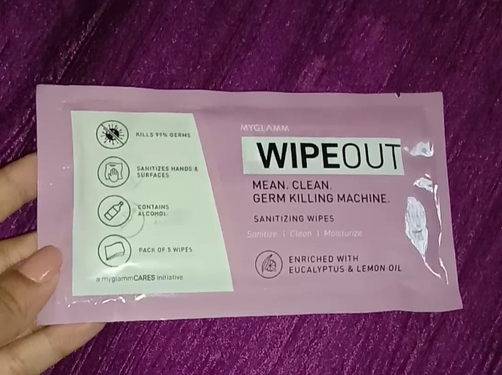 MyGlamm Wipeout Sanitizing Wipes-Best Product to stay safe-By sufiaansarii-2
