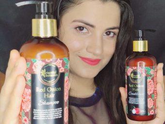 Oriental Botanics Red Onion Hair Shampoo + Conditioner Kit -Happy hair-By tipti_mishra
