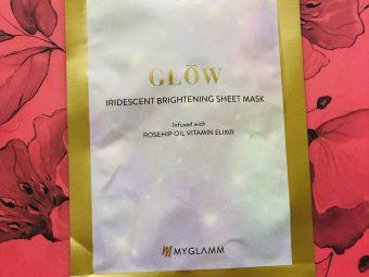 MyGlamm Glow Iridescent Brightening Sheet Mask Rosehip Extract Vitamin Elixir -Instant glow-By ritzytweety
