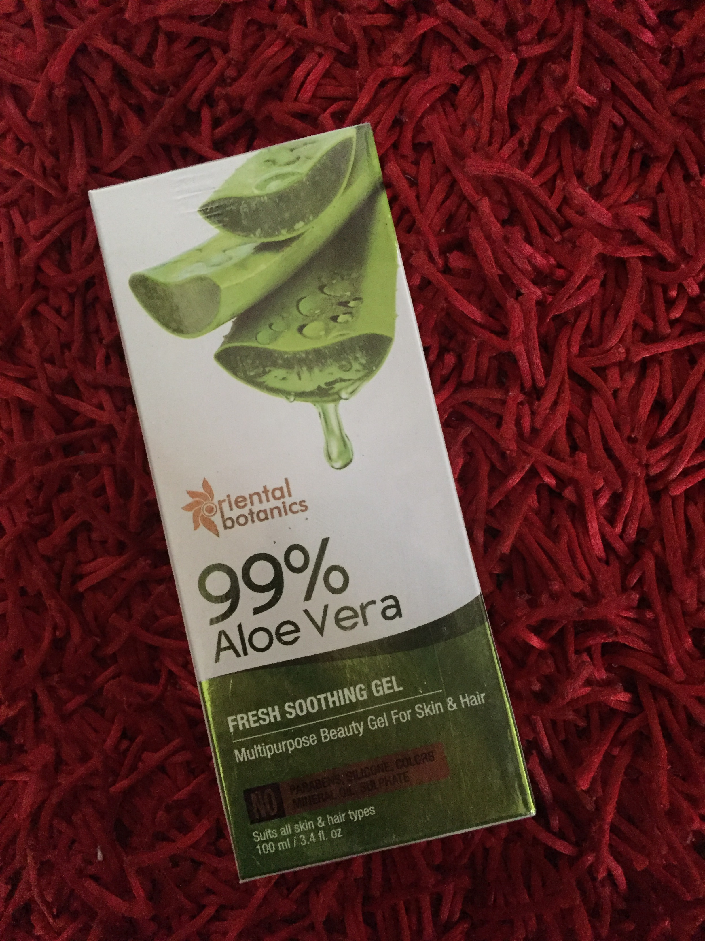 Oriental Botanics 99% Aloe Vera Fresh Soothing Gel For Skin & Hair pic 2-Highly recommended-By filmy_bhukkad