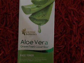 Oriental Botanics Aloe Vera, Green Tea & Cucumber Face Toner -Highly recommended-By filmy_bhukkad