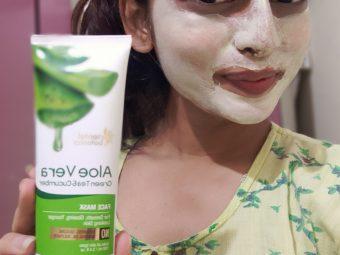 Oriental Botanics Aloe Vera, Green Tea & Cucumber Face Mask -Good product within the budget-By arshin