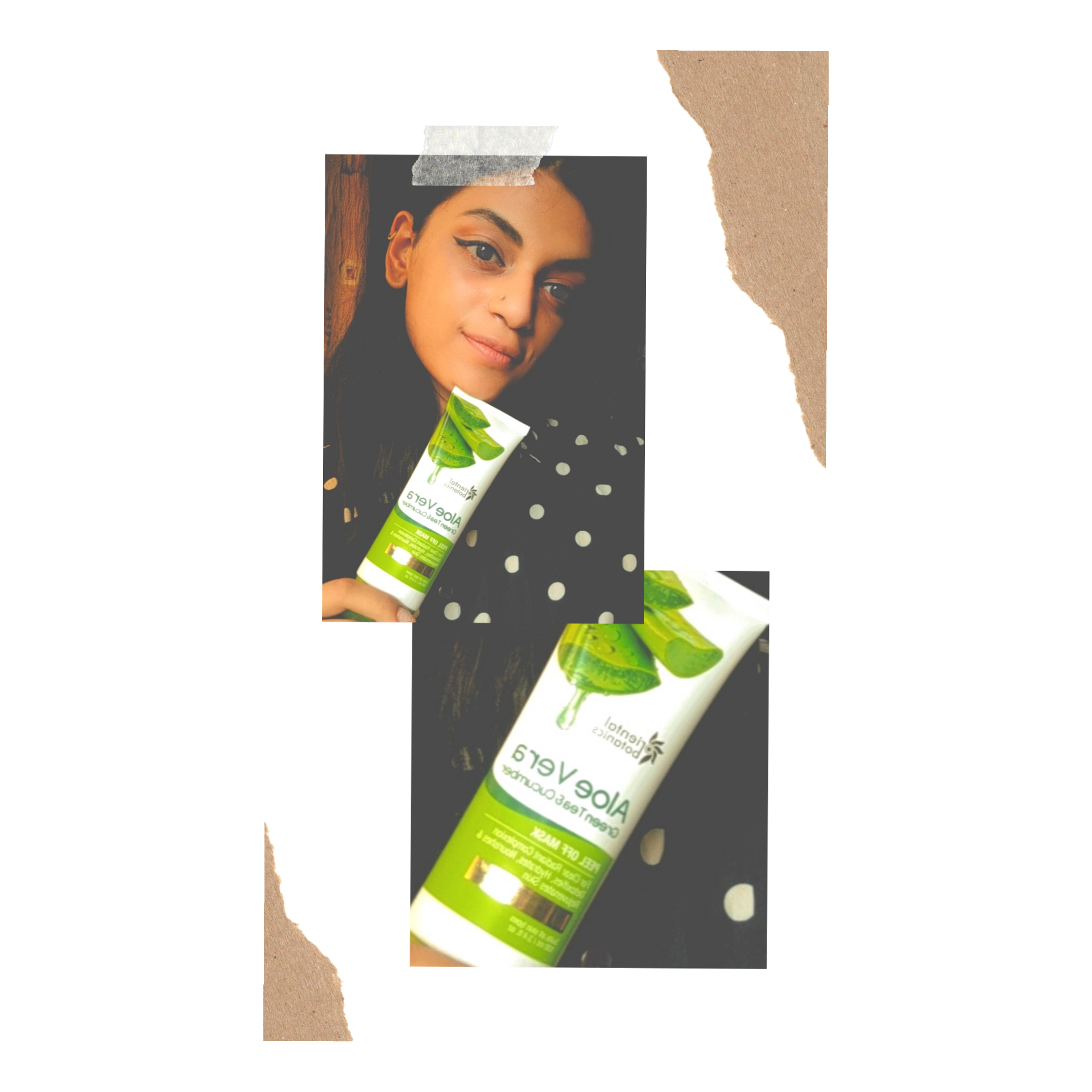 Oriental Botanics Aloe Vera, Green Tea & Cucumber Peel Off Mask -Aloe goodness-By swetha_ravindran