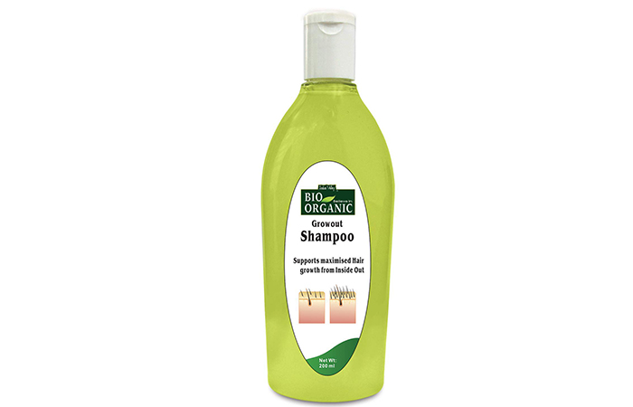 Indus Valley Bio Organic Natural Growout Shampoo for Hair Growth Toxic Chemical-free