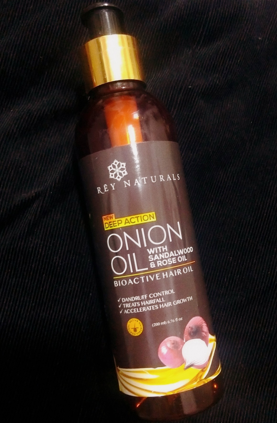 Rey Naturals Onion Hair Oil with 14 Essential Oils-Plethora of Hair Goodness-By tipsybylooks-5