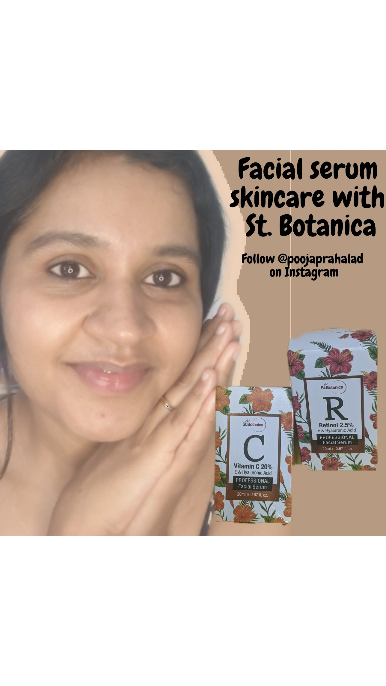 StBotanica Vitamin C 20%, E & Hyaluronic Acid 24k Gold Night Face Serum-Best Vitamin C apnd hyaluronic acid serum for my daily routine.-By pooja_prahlad