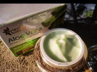 Oriental Botanics Aloe Vera, Green Tea & Cucumber Night Gel -Good for Humid Summers-By snitzee