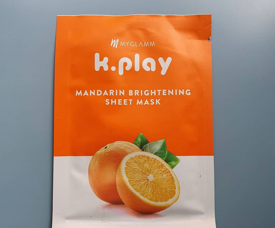 MyGlamm K.Play Mandarin Brightening Sheet Mask-Magical face mask-By shwetajain4
