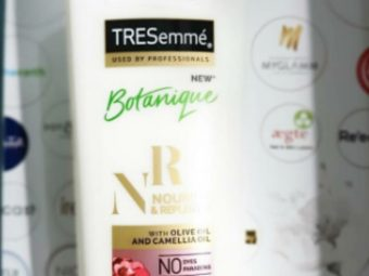 Tresemme Botanique Nourish And Replenish Conditioner -This in budget Conditioner leaves hair soft and smooth,-By humakhan
