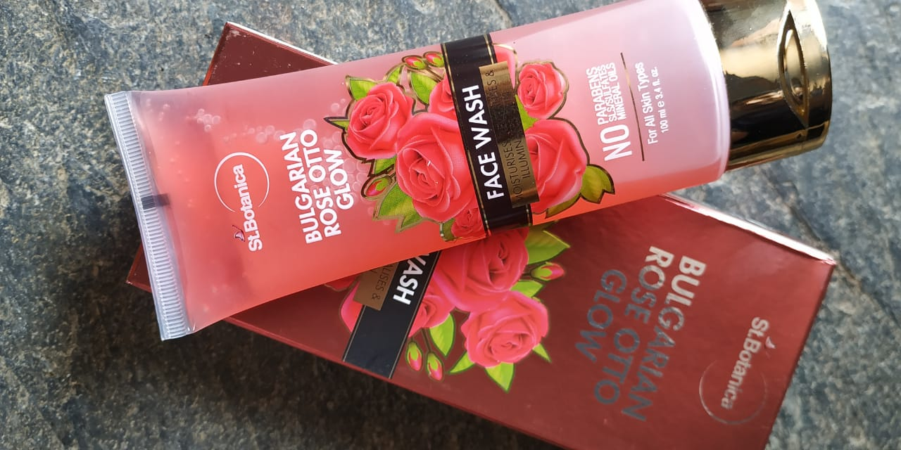 StBotanica Bulgarian Rose Otto Glow Face Wash-Awesome Fragrance-By radhakrishna_kode