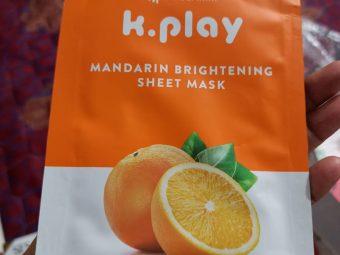MyGlamm K.Play Mandarin Brightening Sheet Mask -Loved the product-By kashmi.shah