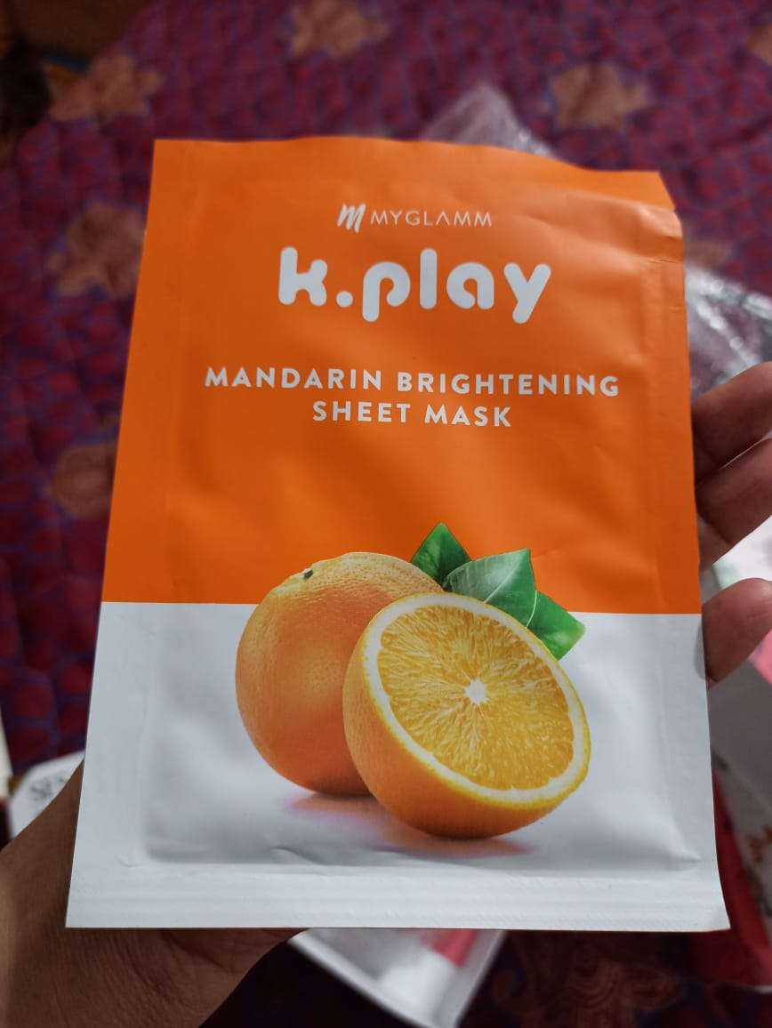 MyGlamm K.Play Mandarin Brightening Sheet Mask-Loved the product-By kashmi.shah