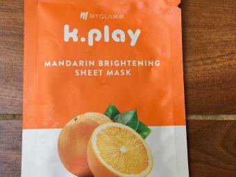 MyGlamm K.Play Mandarin Brightening Sheet Mask -Sheet mask which makes your face glow-By komalv