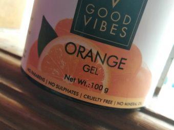 Good Vibes Orange Gel pic 3-Naturally Amazing-By afiya_mariyam