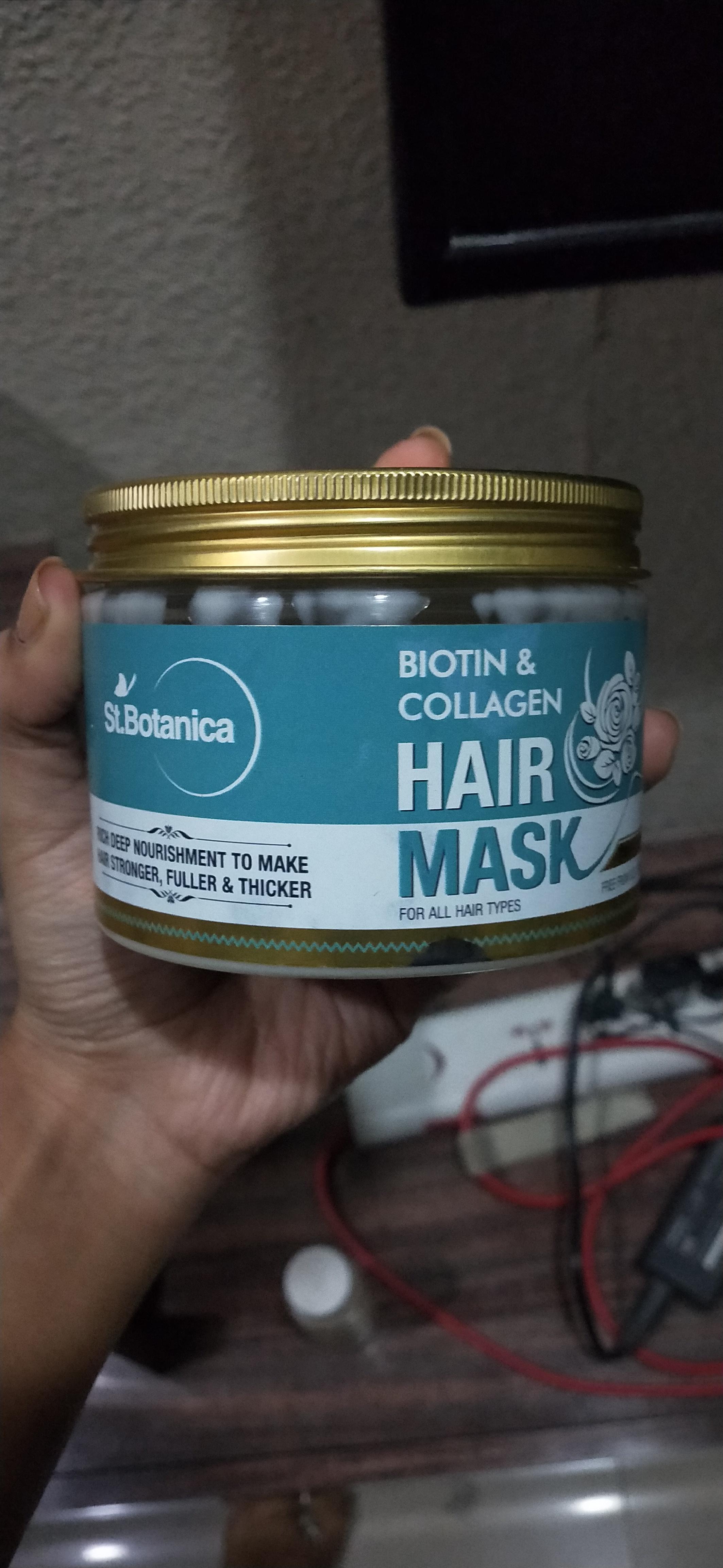 St.Botanica Biotin & Collagen Hair Mask -Okayish-By ishita_shinde
