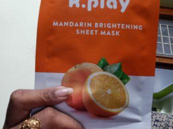 MyGlamm K.Play Mandarin Brightening Sheet Mask -Great product-By kanu4