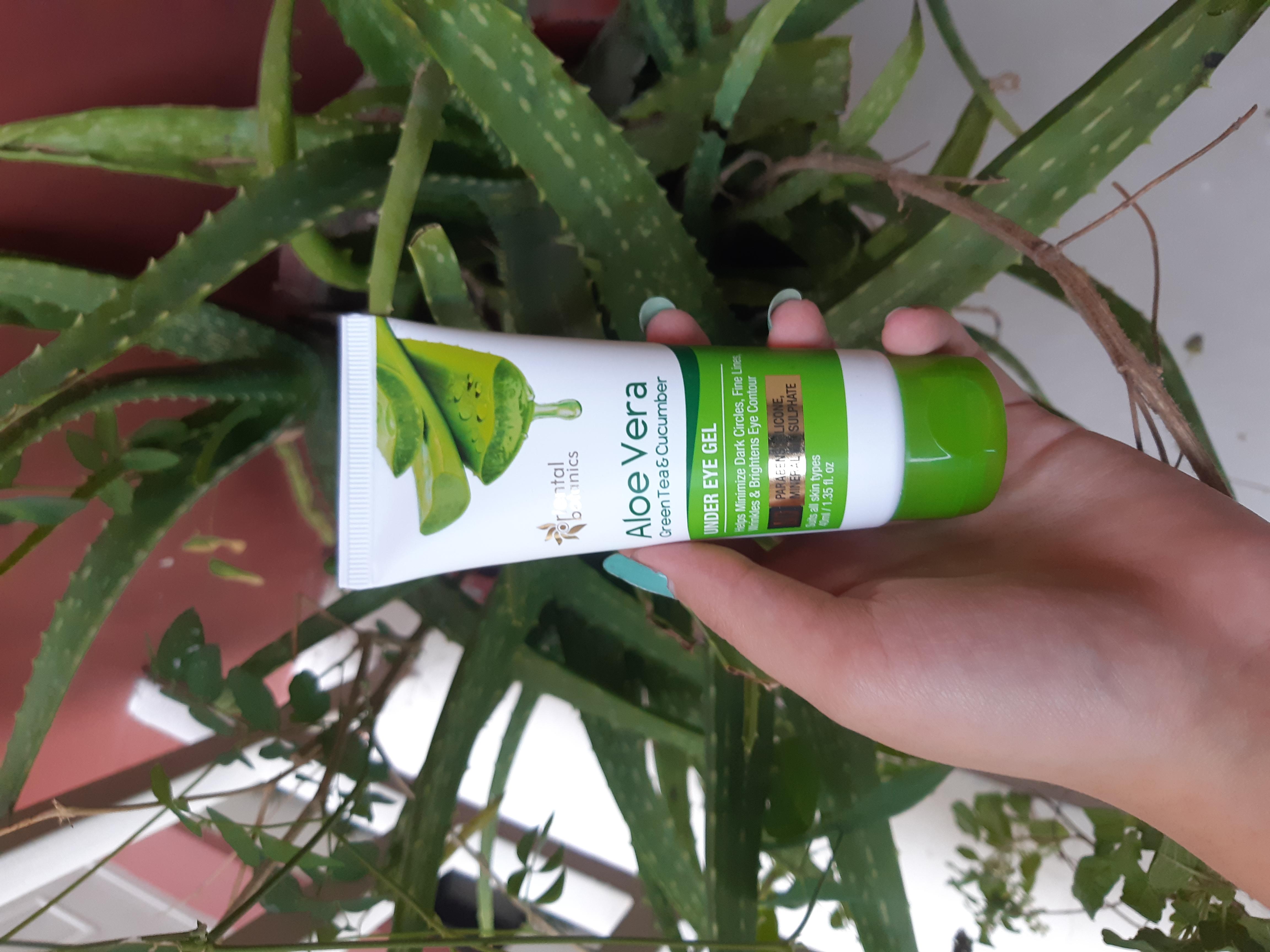 Oriental Botanics Aloe Vera Green Tea & Cucumber Under Eye Gel -Miracle Product for Dark Circles-By madhureema_roy_moulik