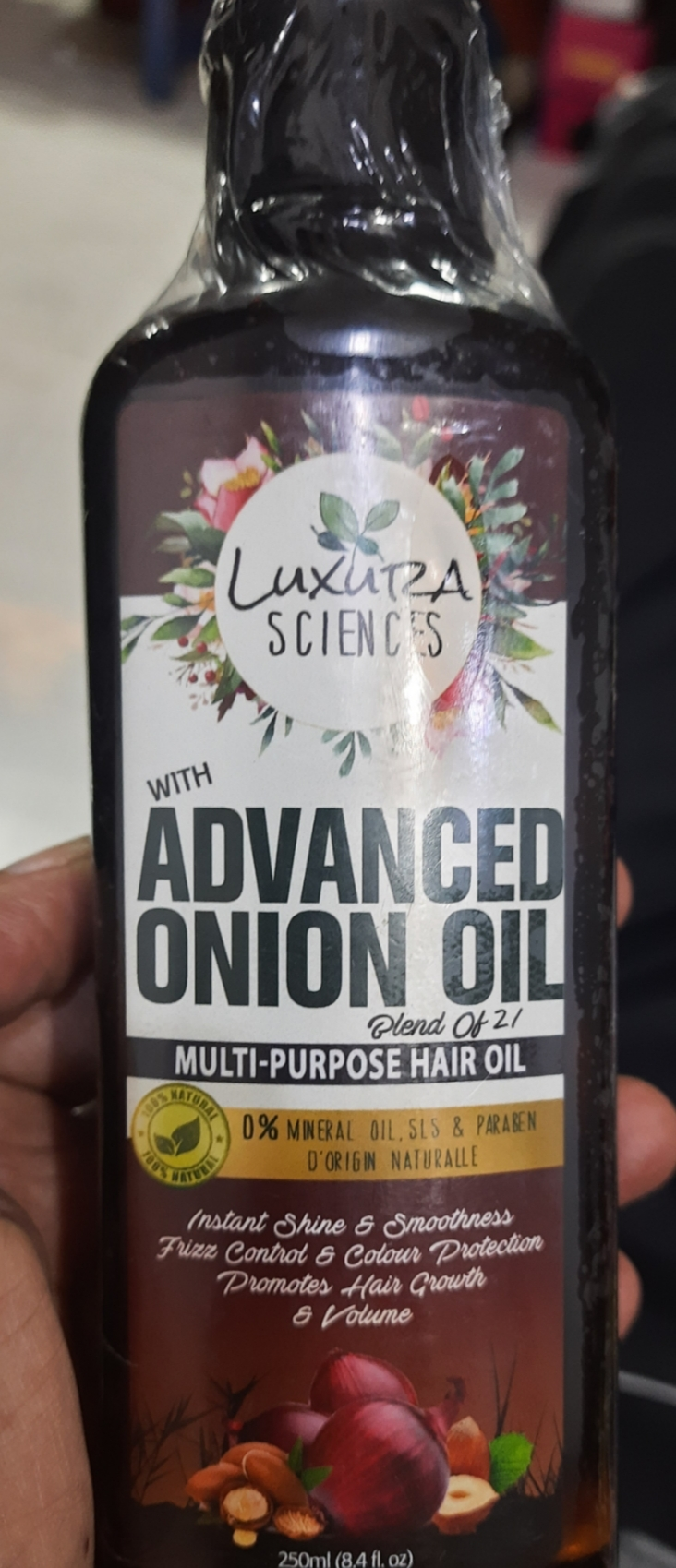 Luxura Sciences Advanced Onion Oil 250 ml-Good quality-By shepinkindore