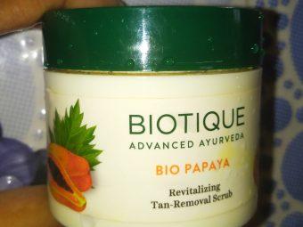 Biotique Bio Papaya Revitalizing Tan Removal Scrub -Must Try Scrub For Everyone-By indranireviews