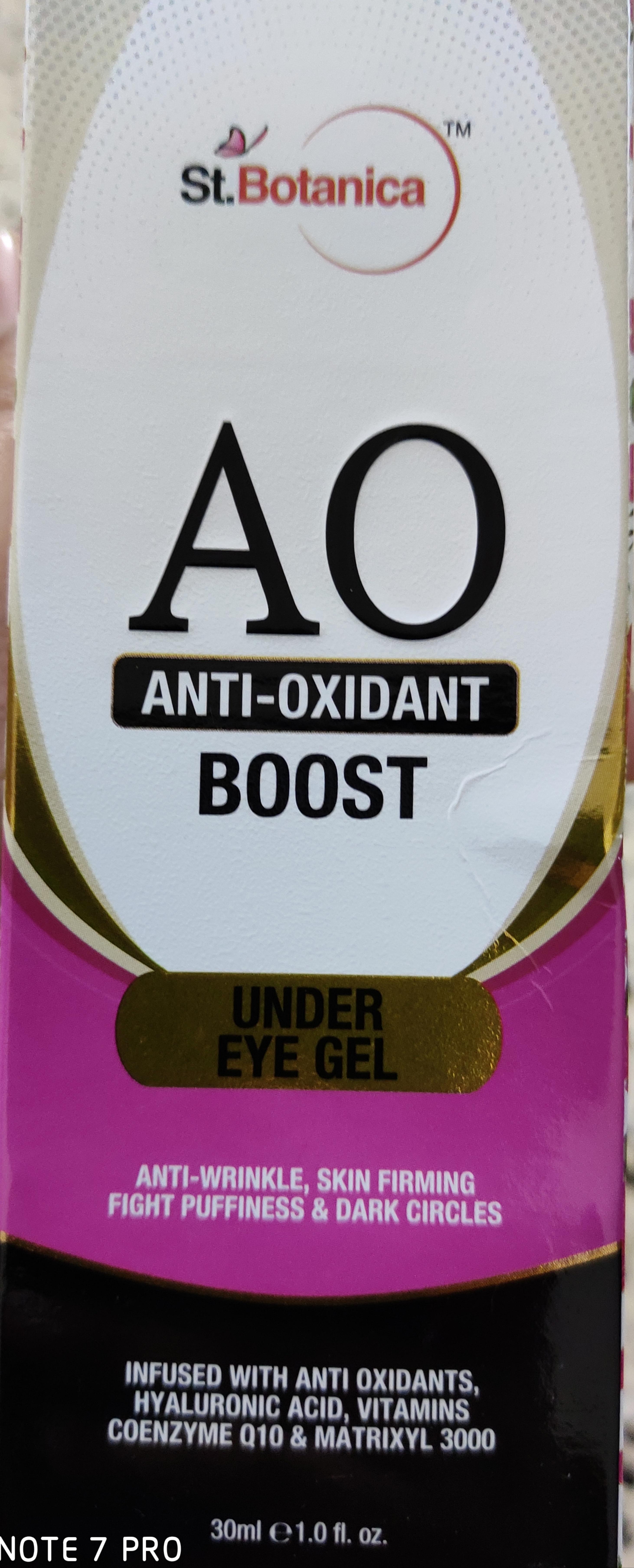 St.Botanica Anti Oxidant Boost Under Eye Gel -All in one under eye cream-By shalakaempathy