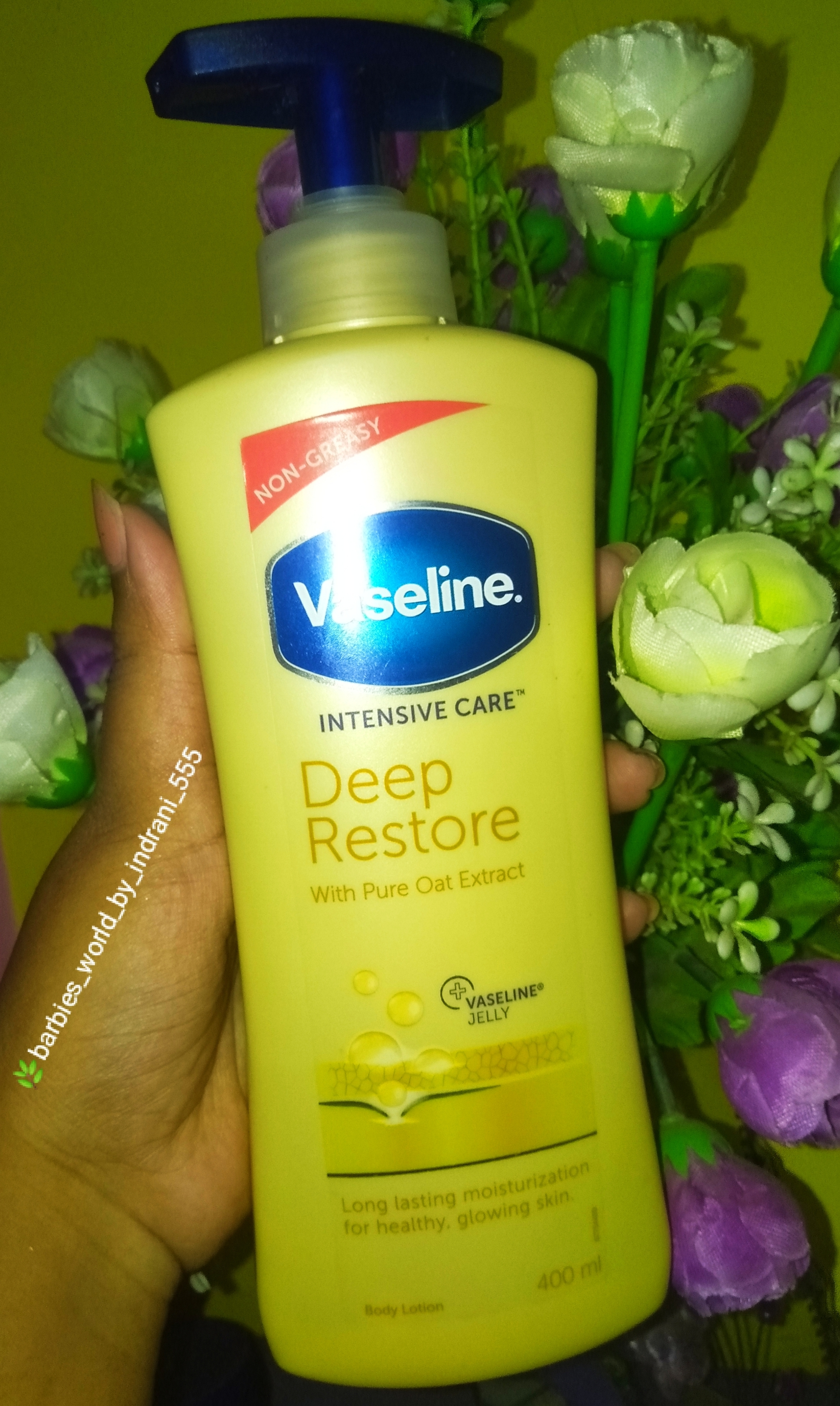 Vaseline Intensive Care Deep Restore Body Lotion-Must have Body Lotion-By indranireviews