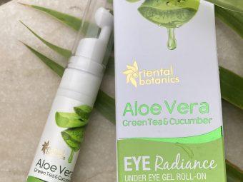 Oriental Botanics Aloe Vera, Green Tea & Cucumber Under Eye Gel Roll-On pic 2-Get Rid of Dark Circles-By bichitra1392