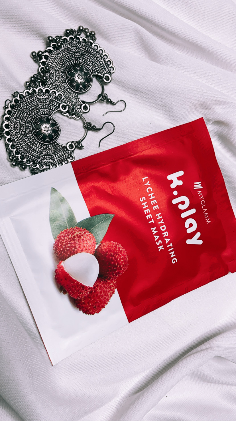 MyGlamm K.Play Lychee Hydrating Sheet Mask -Hydrates and heals-By theuntamedspirit